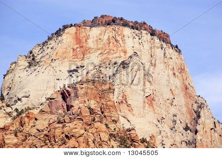 The Sentinel Tower Of Virgin Zion Canyon National Park Utah