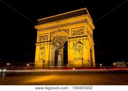 arc de triomphe long exposures paris landmark poster