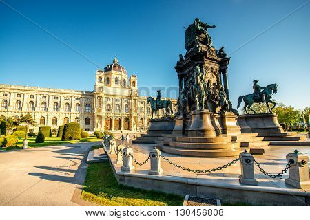 Maria Theresa Statue on the square near Historical museum in Vienna
