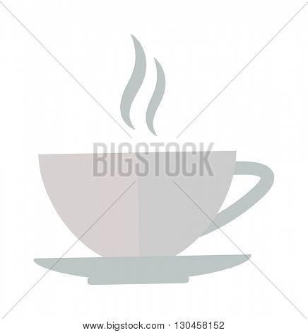 Cup coffe front view vector illustration.