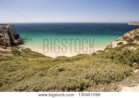 Do Beliche beach in algarve in portugal