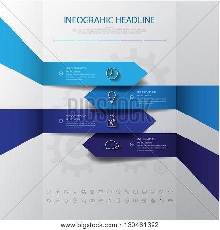 Design Flat Shadow Arrow Banners /graphic Or Website .vector/illustration.