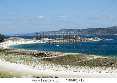 Vistas a las islas cies in Vigo, Galicia