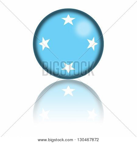 Micronesia Flag Sphere