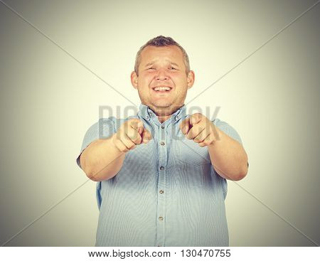 A Laughing fat man. Haughty kind person.