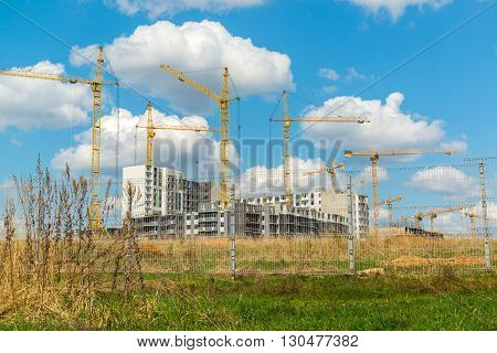 A Construction site in a summer day