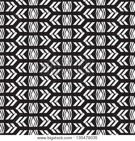 Seamless native vector pattern in black and white background