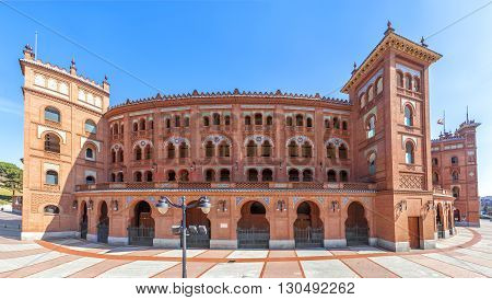 MADRID SPAIN - MARCH 23 2016: Bullring of Las Ventas in Madrid Spain.