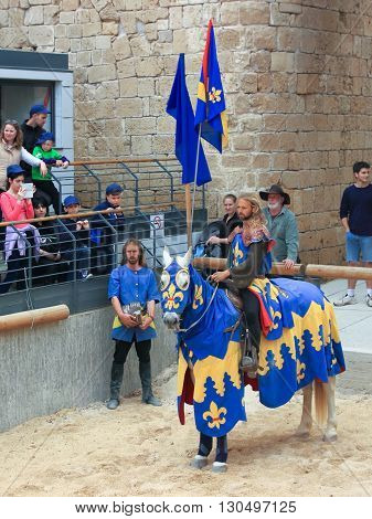 Theatrical Knight Tournament In Old Acre, Israel