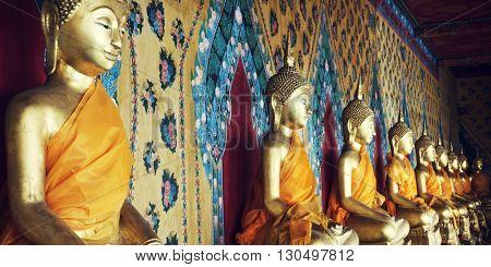Buddhism Religion Spirituality Idols Concept