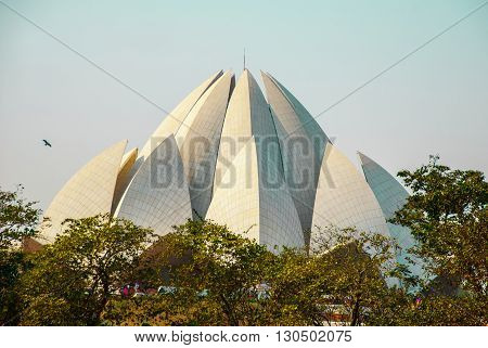 The Lotus Temple, Located In New Delhi, India, Is A Bahai House Of Worship