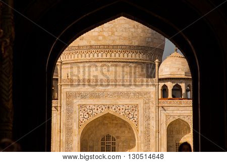Taj Mahal. The View From The Arch. Agra, India
