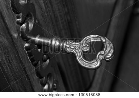 the key from an old furniture with a litte dust