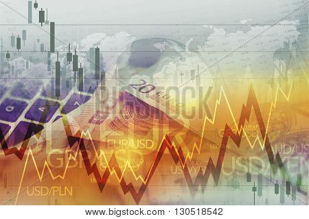 World Currency Forex Trade. Currency Trading Conceptual Graphic.