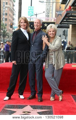 LOS ANGELES - MAY 19:  Deidre Hall, Greg Meng, Susan Seaforth Hayes at the Deidre Hall Hollywood Walk of Fame Ceremony at Hollywood Blvd. on May 19, 2016 in Los Angeles, CA