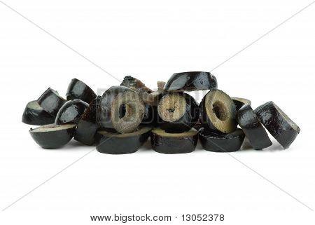 Small Pile Of Sliced Black Olives