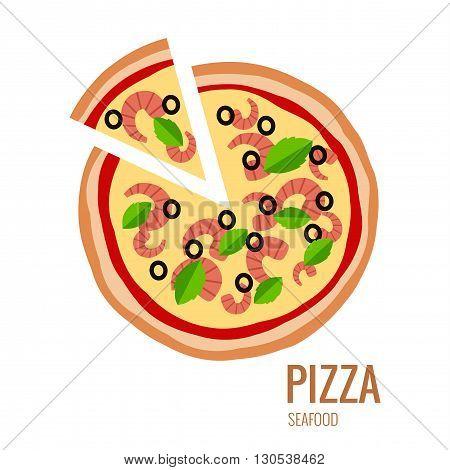 Pizza piece icon background. Pizza icon flat design. Flat illustration of pizza slice for pizza menu. Vector pizza silhouette collection. Pizza isolated background. Pizza food illustration