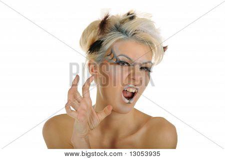 Beautiful Aggressive Woman