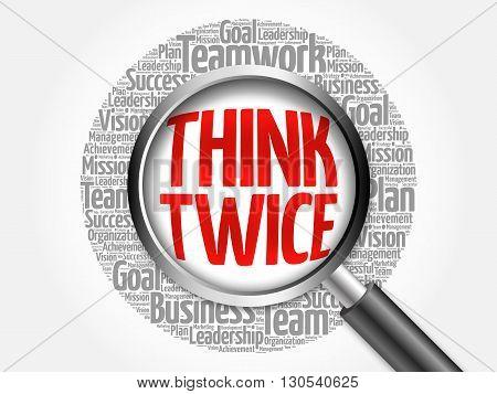 Think Twice Word Cloud