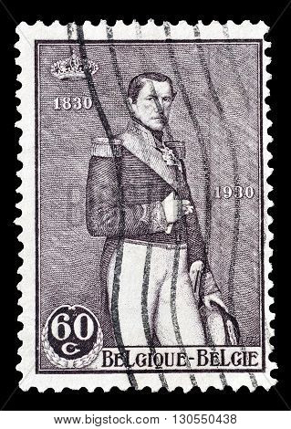BELGIUM - CIRCA 1930 : Cancelled postage stamp printed by Belgium, that shows King Leopold.
