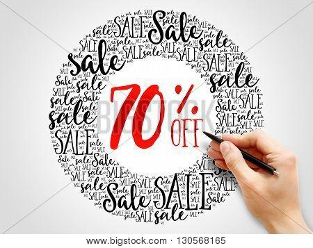70% Off Sale Words Cloud