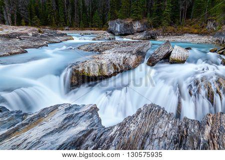Natural Bridge At Yoho National Park In British Columbia