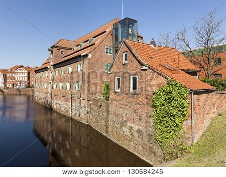 Schwedenspeicher, a historic warehouse and today museum, at the old town of Stade, Germany