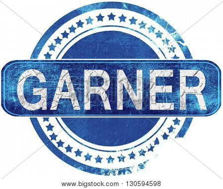 garner grunge blue stamp. Isolated on white.