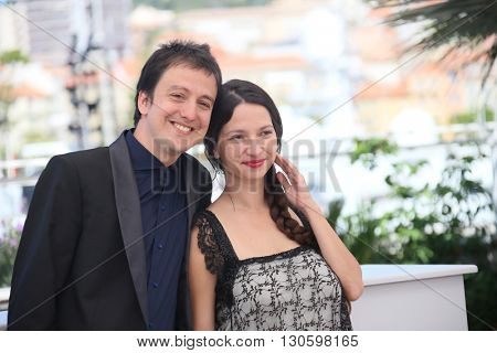 Francisco Marquez,  Andrea Testa attend the 'La Larga Noche De Francisco Sancti' photocall during the 69th  Cannes Film Festival at the Palais  on May 20, 2016 in Cannes, France.