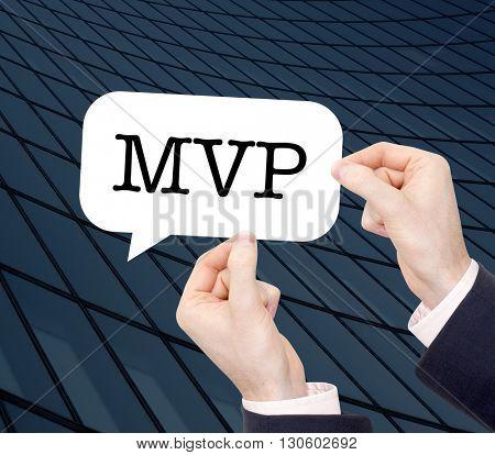 MVP written in a speechbubble