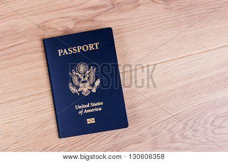 American Passport On Desktop