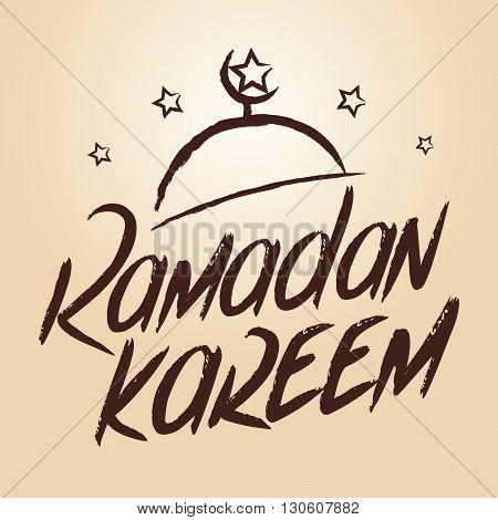 Vector stock of ramadan kareem greetings lettering