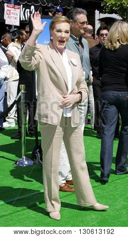 Julie Andrews at the Los Angeles premiere of 'Shrek 3' held at the Mann Village Theater in Westwood, USA on May 6, 2007.