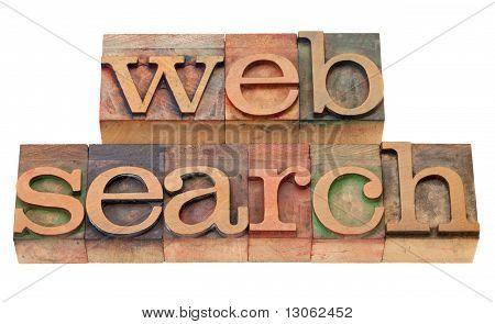 Web Search - Words In Wood Letterpress Type