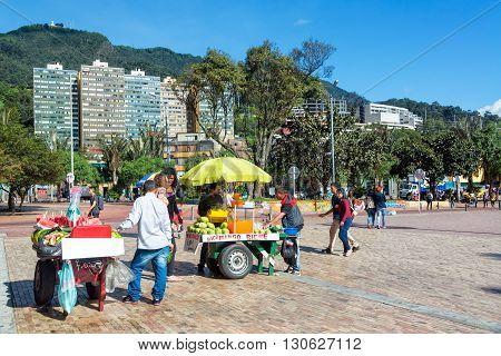 Vendors In Downtown Bogota