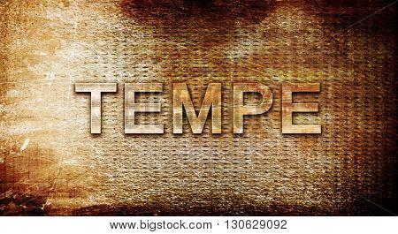 tempe, 3D rendering, text on a metal background
