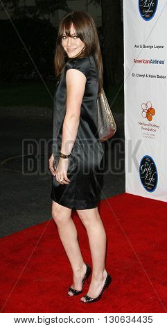 Hilary Duff at the National Kidney Foundation of Southern California's 28th Annual Gift of Life Celebration held at the Warner Bros. Lot in Burbank, USA on April 29, 2007.