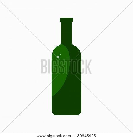 Glass bottle waste flat concept.  Vector illustration of sorting Glass bottle waste. Icon of Glass bottle waste for garbage disposal design.  Glass bottle waste sorting management .