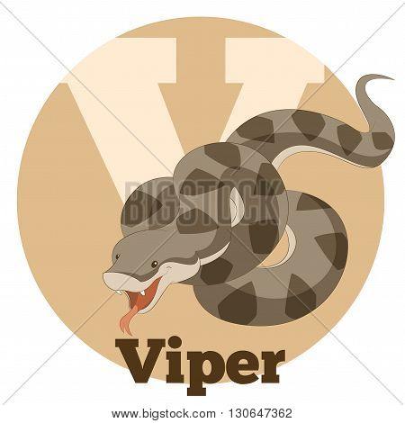 Vector image of the ABC Cartoon Viper