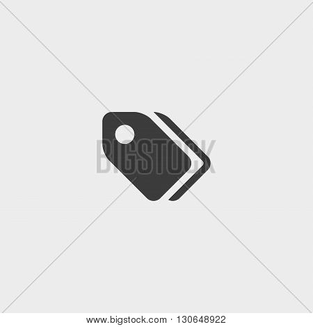 Tag Icon in a flat design in black color. Vector illustration eps10