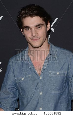 LOS ANGELES - MAY 19:  RJ Mitte at the Zoe Kravitz Celebrates Her New Role With Yves Saint Laurent Beauty at Gibson Brands Sunset on May 19, 2016 in West Hollywood, CA