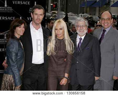 Rupert Everett and Donatella Versace at the Gianni and Donatella Versace Receive Rodeo Drive Walk Of Style Award held at the Rodeo Drive in Beverly Hills, USA on February 8, 2007.