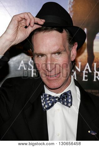 Bill Nye at the Los Angeles premiere of 'The Astronaut Farmer' held at the Cinerama Dome in Hollywood, USA on February 20, 2007.