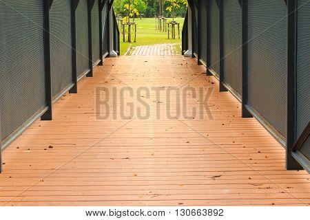 Close-up Of A Bridge Crossing At Public Park.