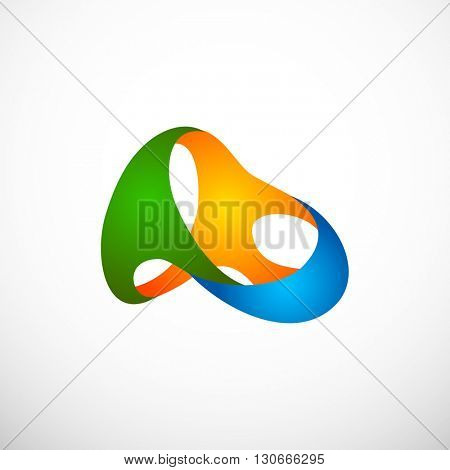 Stylized sign of 2016 Olympics, Brazil. Vector illustration