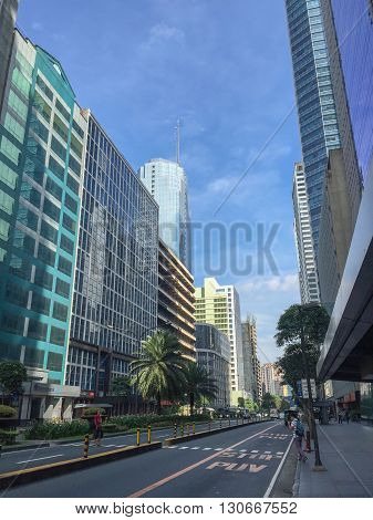 Makati Philippines - July 19 2015 : Makati city Manila. Makati is the financial center of the Philippines