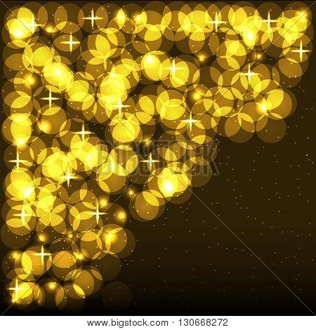 Shining Spotlights. Nightclub & Party Card. Vector illustration
