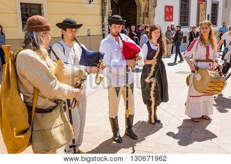 Bratislava, Slovakia - 21 May 2016: A Reminder Of The Siege Of Napoleon In Bratislava (pressburg)