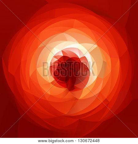 abstract modern artistic rounded shapes background - fiery red spectrum rainbow colors