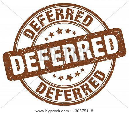 deferred brown grunge round vintage rubber stamp